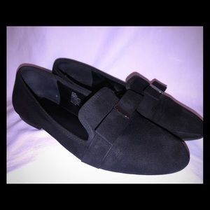 WOMEN'S SHOES  NINE WEST Black Suede Loafers
